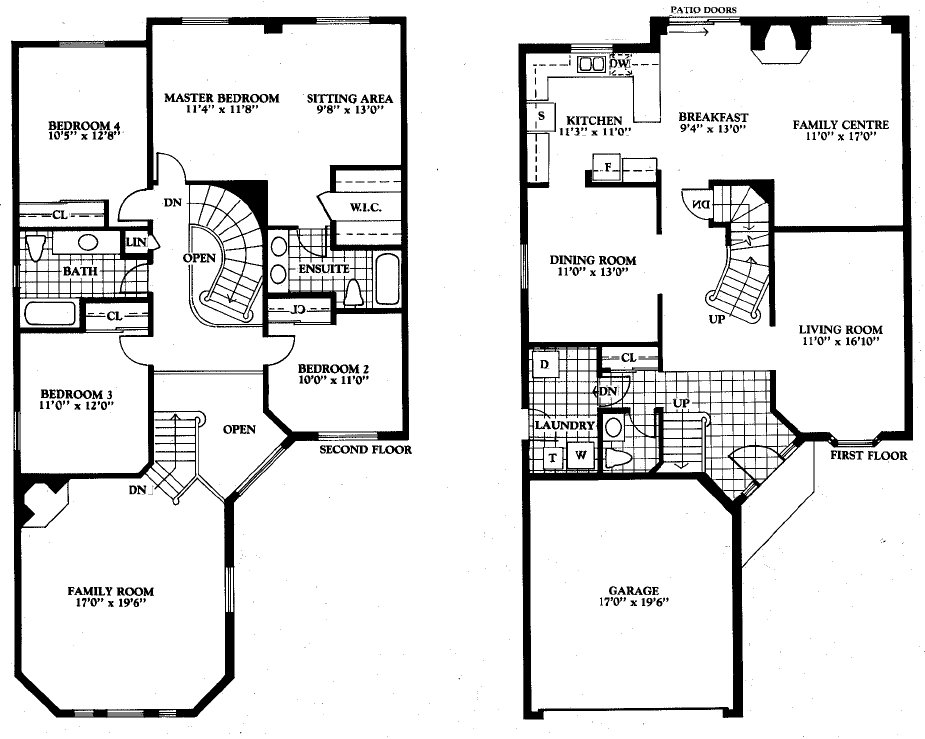 Smart Placement 4 Bedroom Open Floor Plans Ideas House